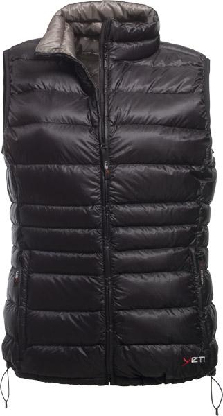 Yeti Caring W's Lightweight Down Vest black/charcoalgrey/XXS