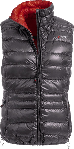 Yeti Caring W's Lightweight Down Vest dark gully grey/mandarinred/M