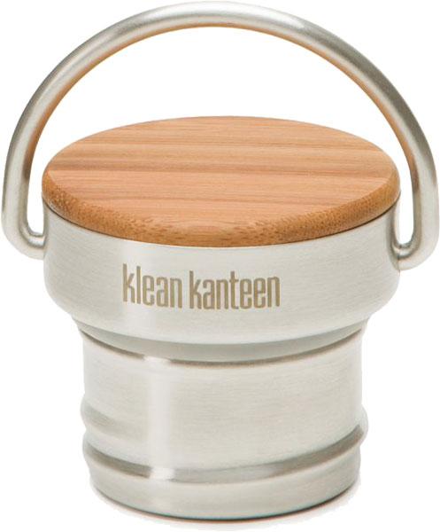 Klean Kanteen Kanteen® Classic Verschlüsse brushed stainless/natural/Bamboo Ca