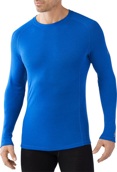 Smart Wool Men's Merino 200 Baselayer Crew bright blue/M