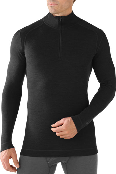 Smart Wool Men's Merino 250 Baselayer 1/4 Zip black/L