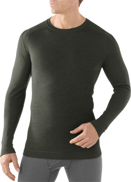 Smart Wool Men's Merino 250 Baselayer Crew olive heather/XL